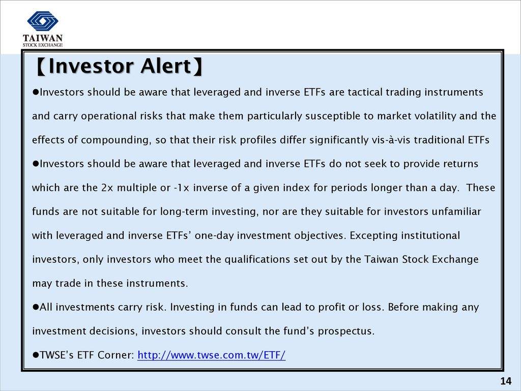 Leveraged/Inverse ETFs: Basic Concepts - ppt download
