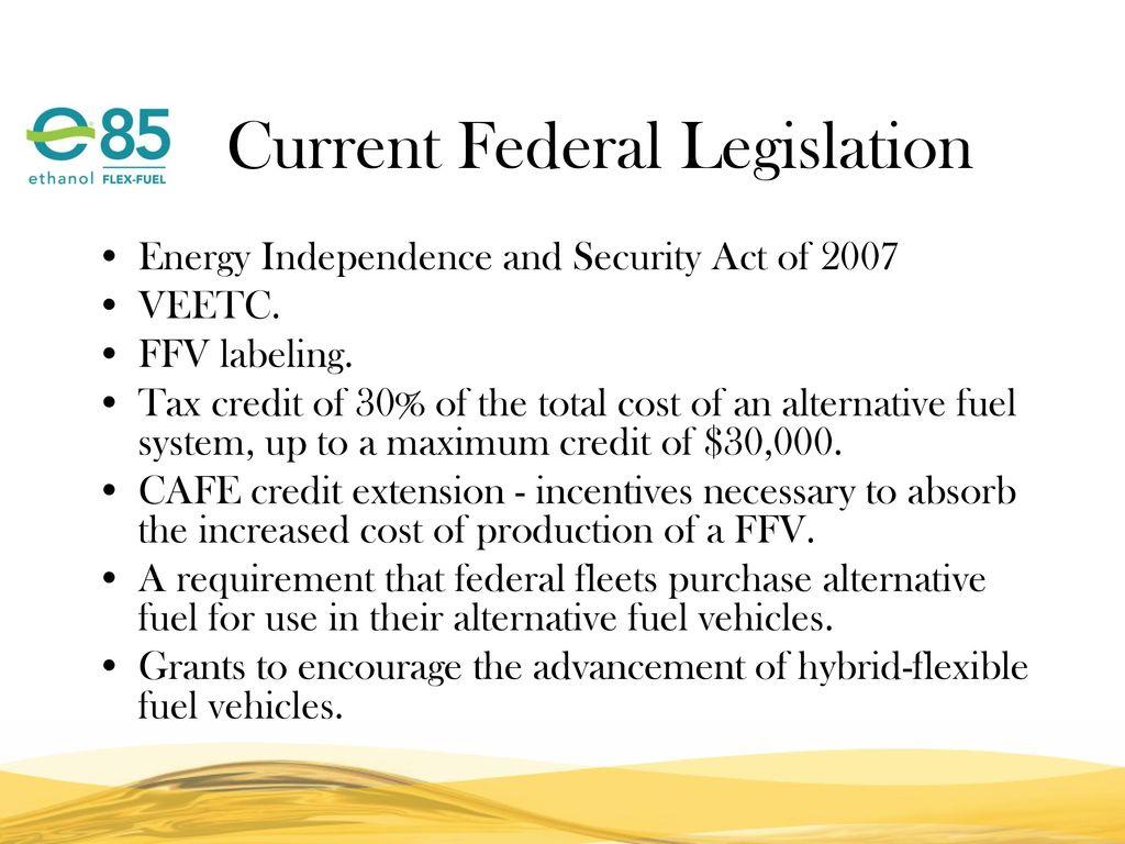 5 Cur Federal Legislation