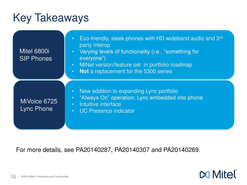 Mitel and Aastra Combined Portfolio Update - ppt download