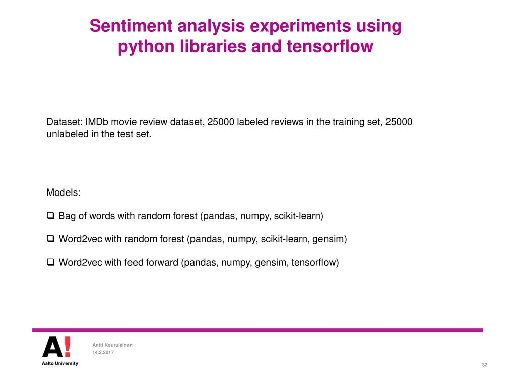 Sentiment analysis using deep learning methods - ppt download