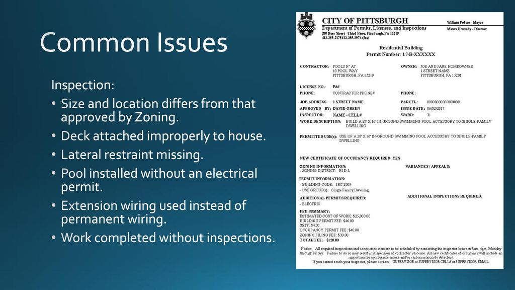 Department of Permits, Licenses, and Inspections - ppt download