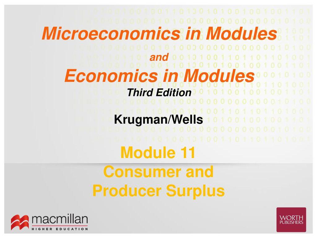 "Presentation on theme: ""Module 11 Consumer and Producer Surplus""—  Presentation transcript: 1 Module 11 ..."