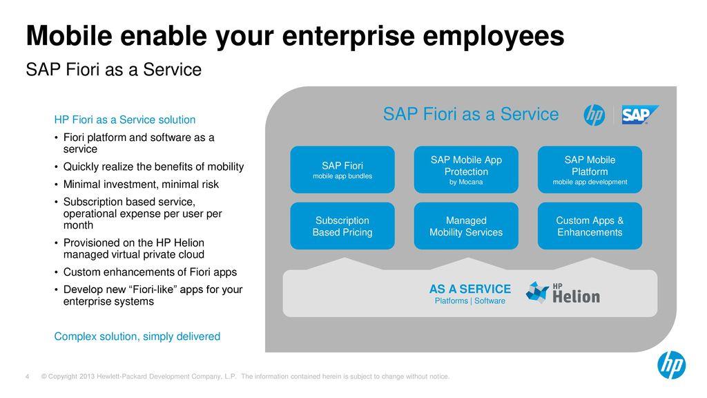 HP Enterprise Mobility Services for SAP - ppt download