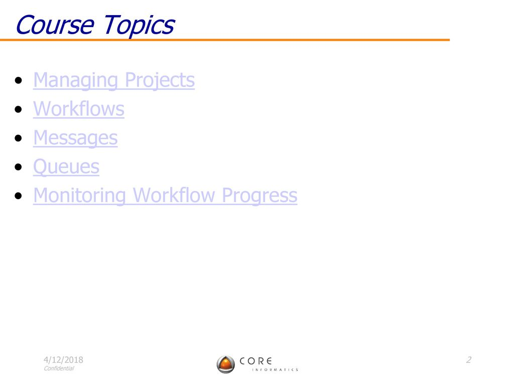 Core LIMS Training: Project Management - ppt download