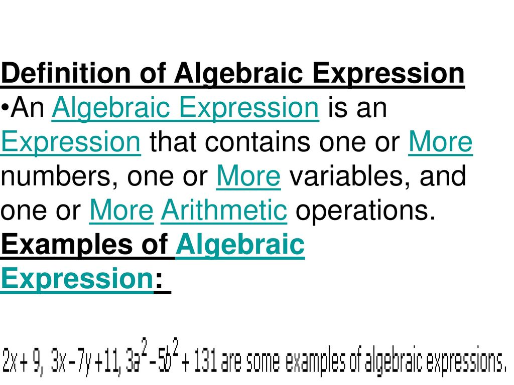 Rewrite these verbal expressions as algebraic expressions. - ppt ...