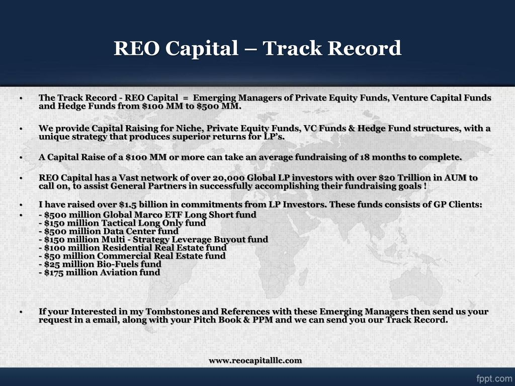 """Client's, Credible, Completion"""" """"Global Capital Raising Solutions"""