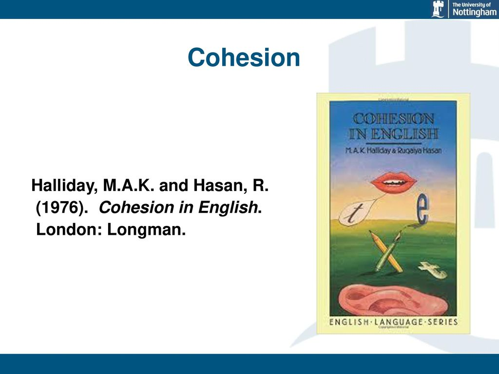 cohesion in english halliday