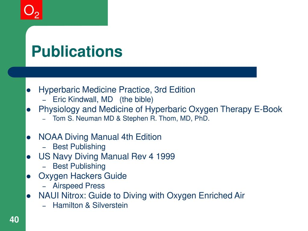 40 Publications Hyperbaric ...