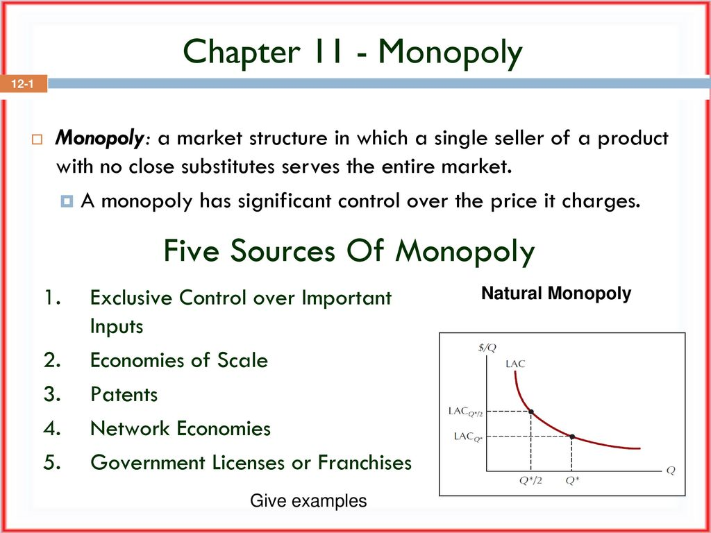 sources of monopoly
