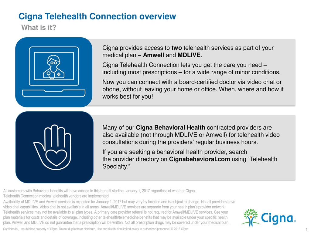 Cigna Telehealth Connection Overview Ppt Download