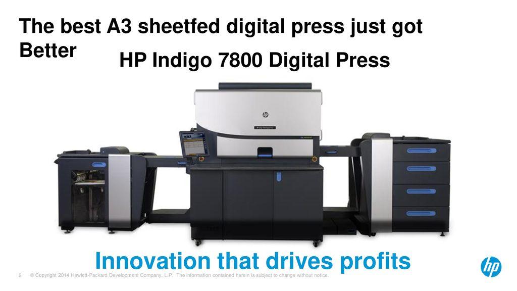 HP Indigo 7800 Digital Press - ppt download