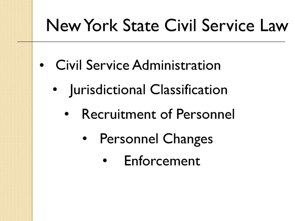 New York State Civil Service Law