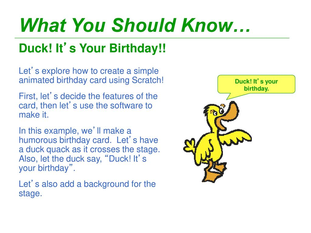 Scratch Animated Greeting Cards