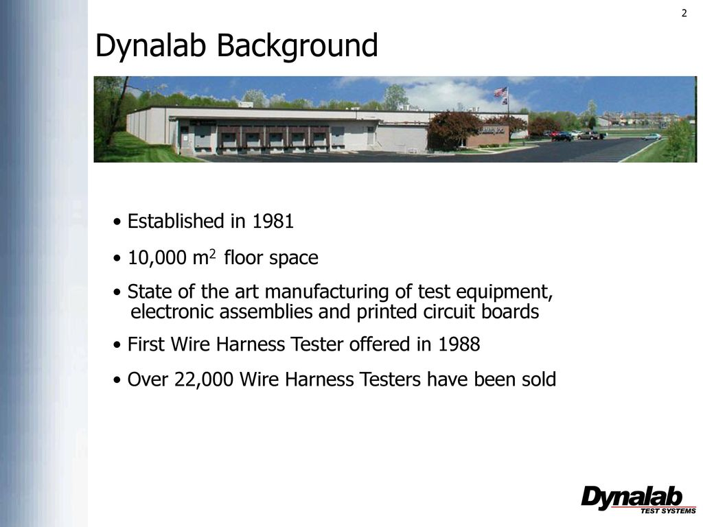 Dynalab Background Established In 000 M2 Floor Space Ppt Download Wire Harness