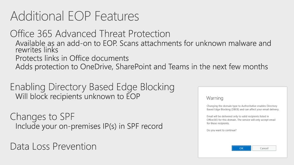 Exchange Online Protection for Exchange On-Premises - ppt download