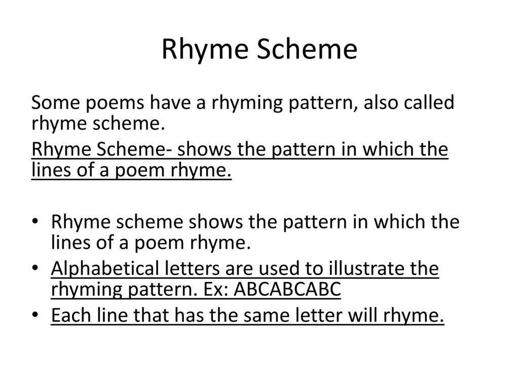 Rhyming Patterns In Poems Awesome Decorating Design