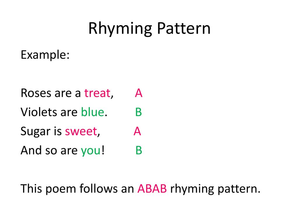 Rhyming Patterns In Poems New Decoration