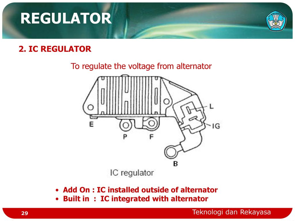 to regulate the voltage from alternator