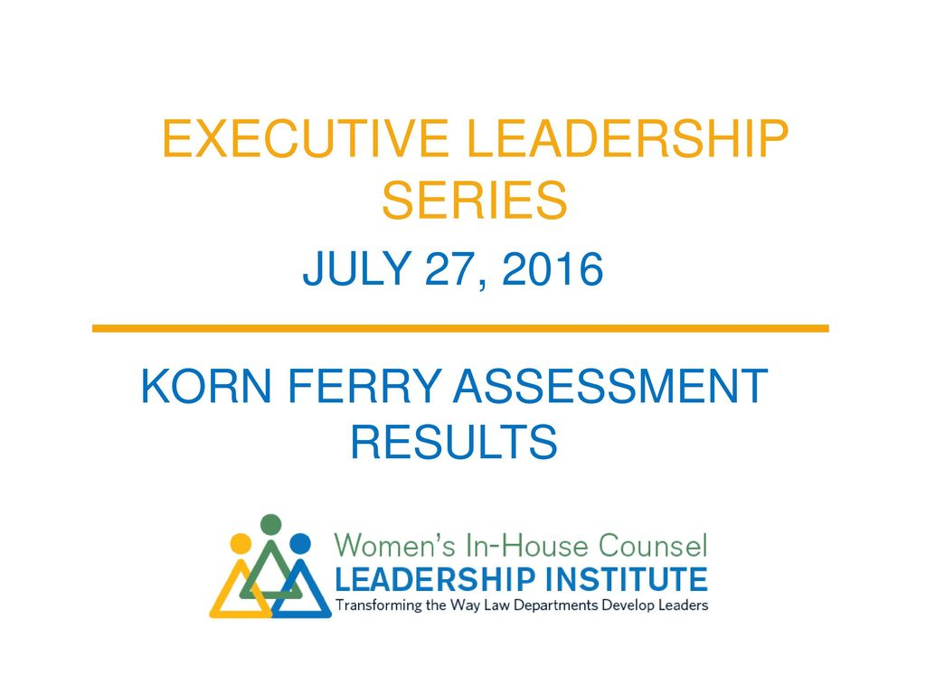 Executive Leadership Series - ppt download