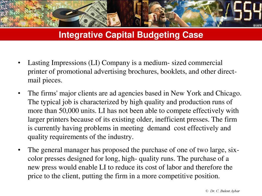 capital budgeting case analysis