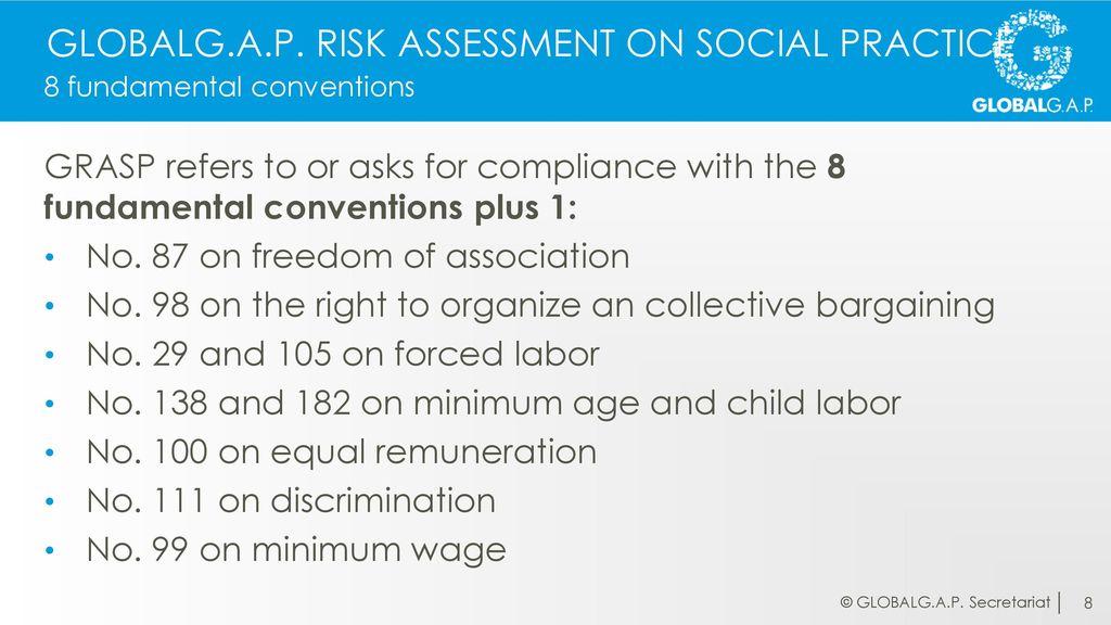 GLOBALG A P  Risk Assessment On Social Practice – GRASP