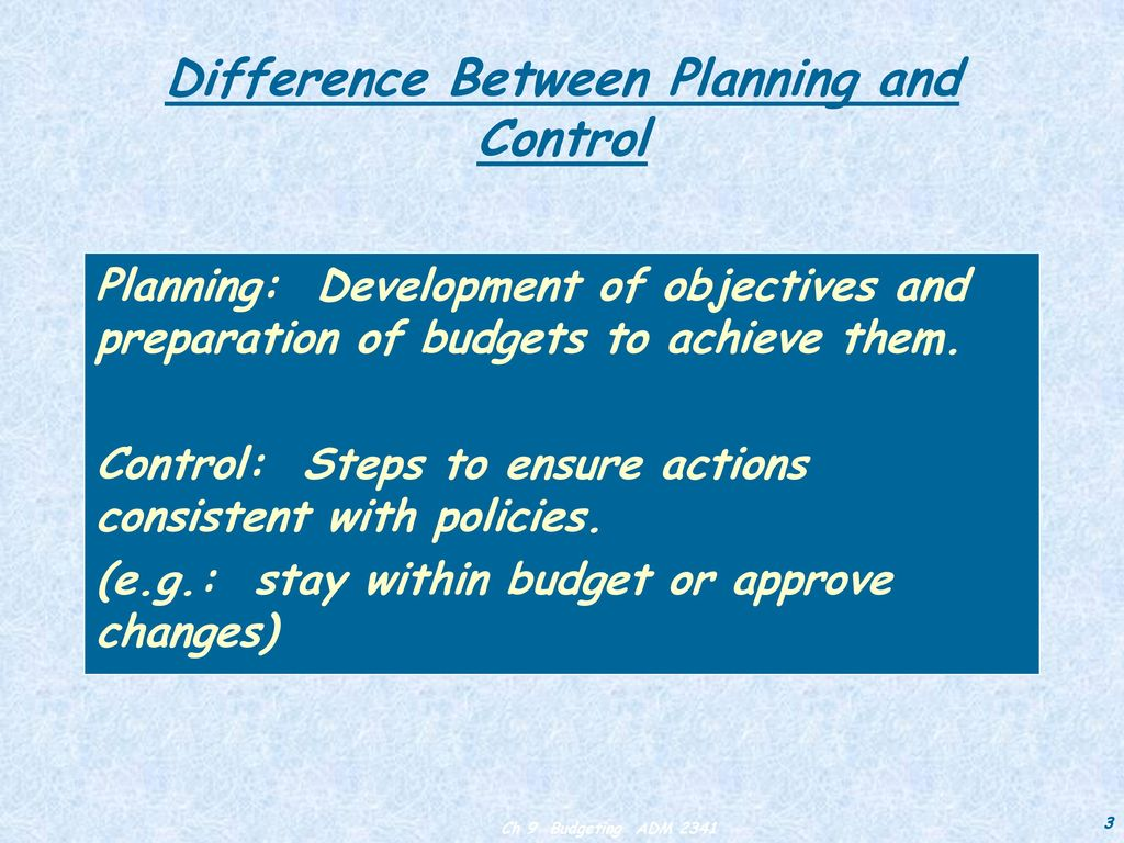 Difference between planning and forecasting ppt