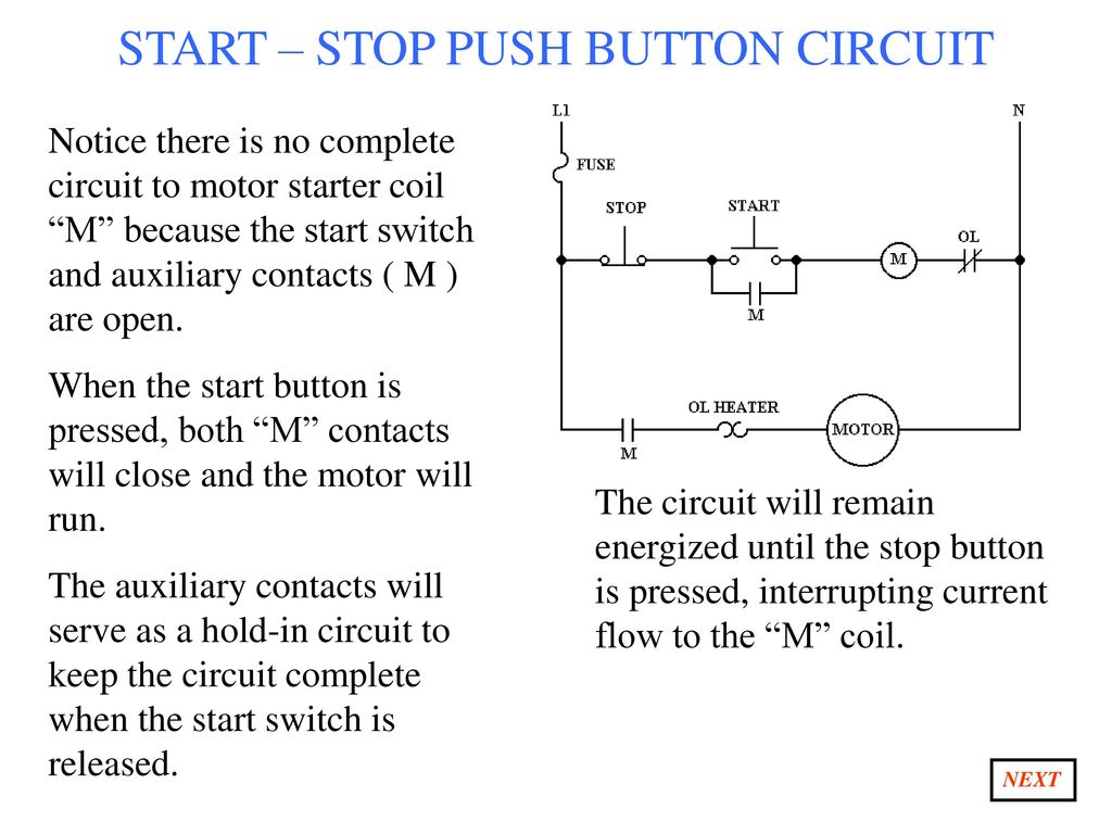 With Start Stop Switch Wiring Diagram Aux Contacts Schematic Diagrams Ppt Download