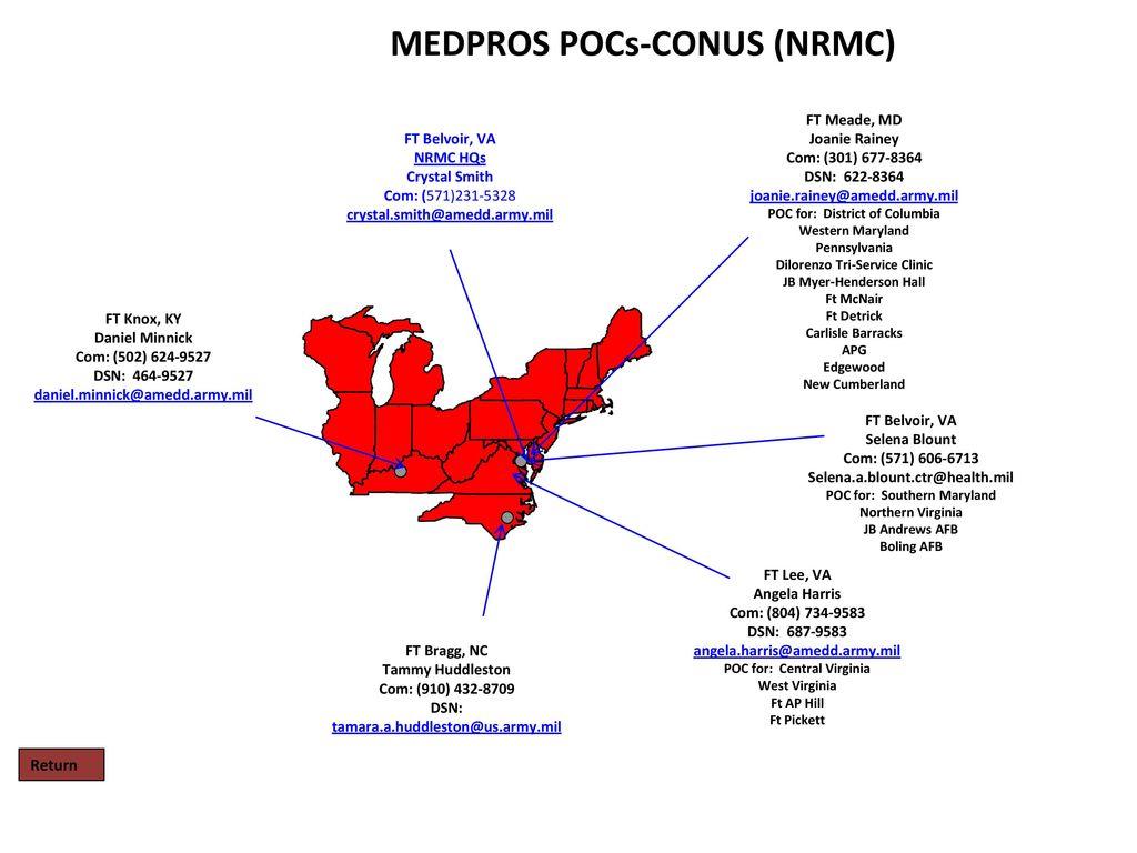Medpros Pocs Wrmc Nrmc Srmc Prmc Ermc Wramc Pacific Rmc Western Rmc