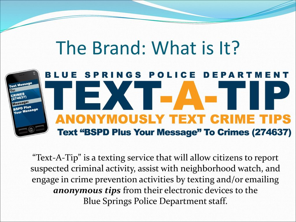 Blue Springs Police Department staff  - ppt download