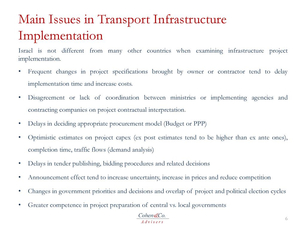 Public Private Financing of Transport Infrastructure in Israel - ppt