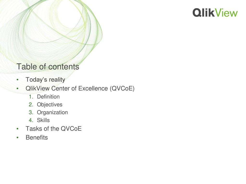 QlikView Center of Excellence - ppt download