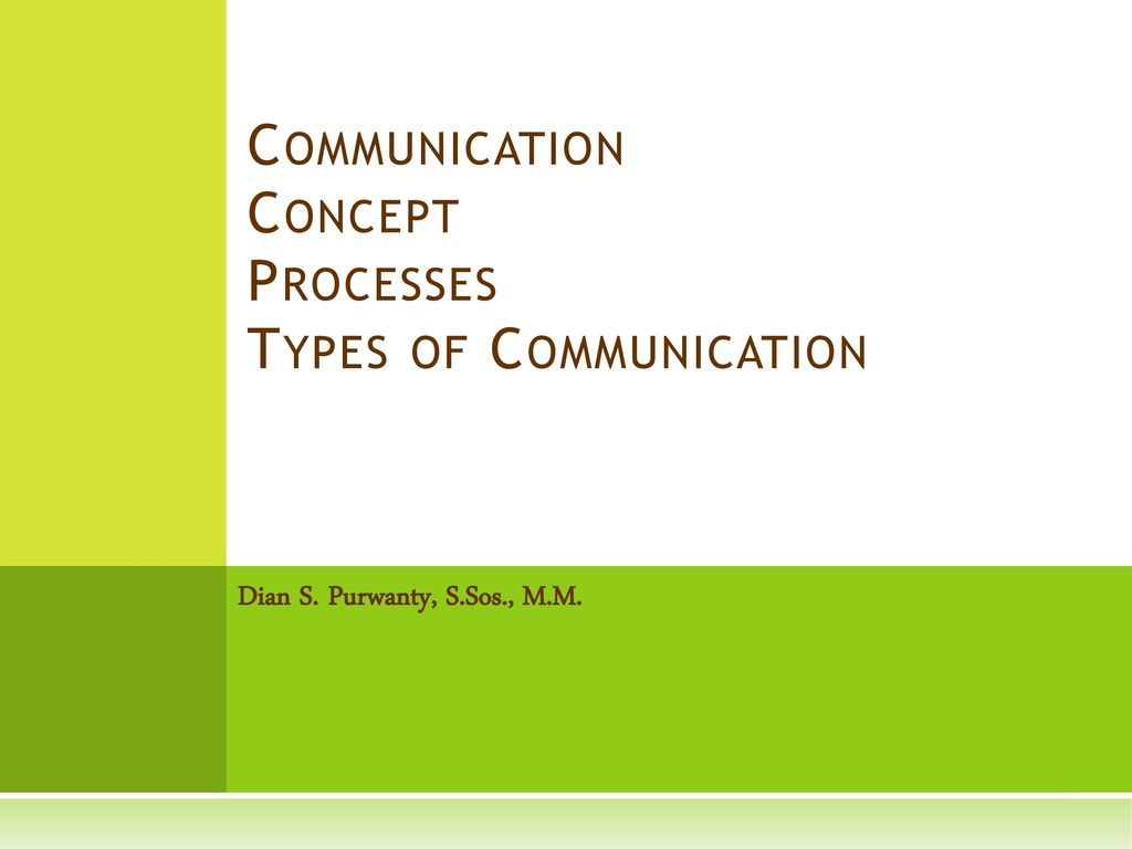 The concept and types of communication as the most important area of study of psychology 19
