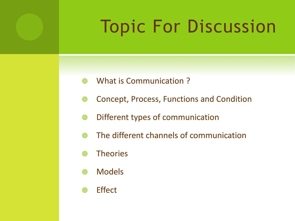 The concept and types of communication as the most important area of study of psychology 2