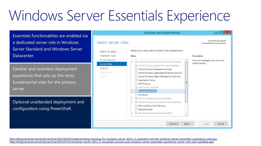 Windows Server 2012 R2 The Essentials Experience - ppt download