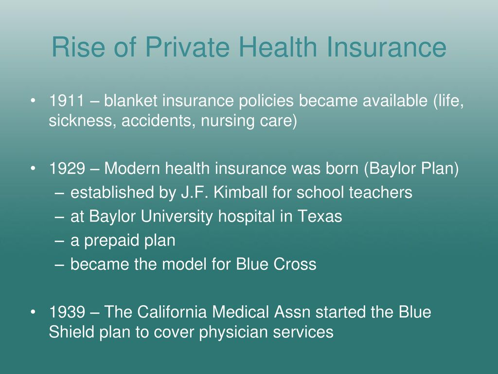Evolution of Health Care Policy in the United States - ppt