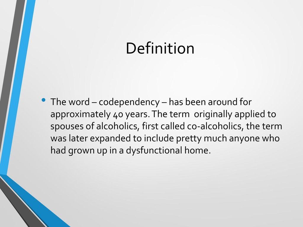 co-dependence and how to overcome it. - ppt download