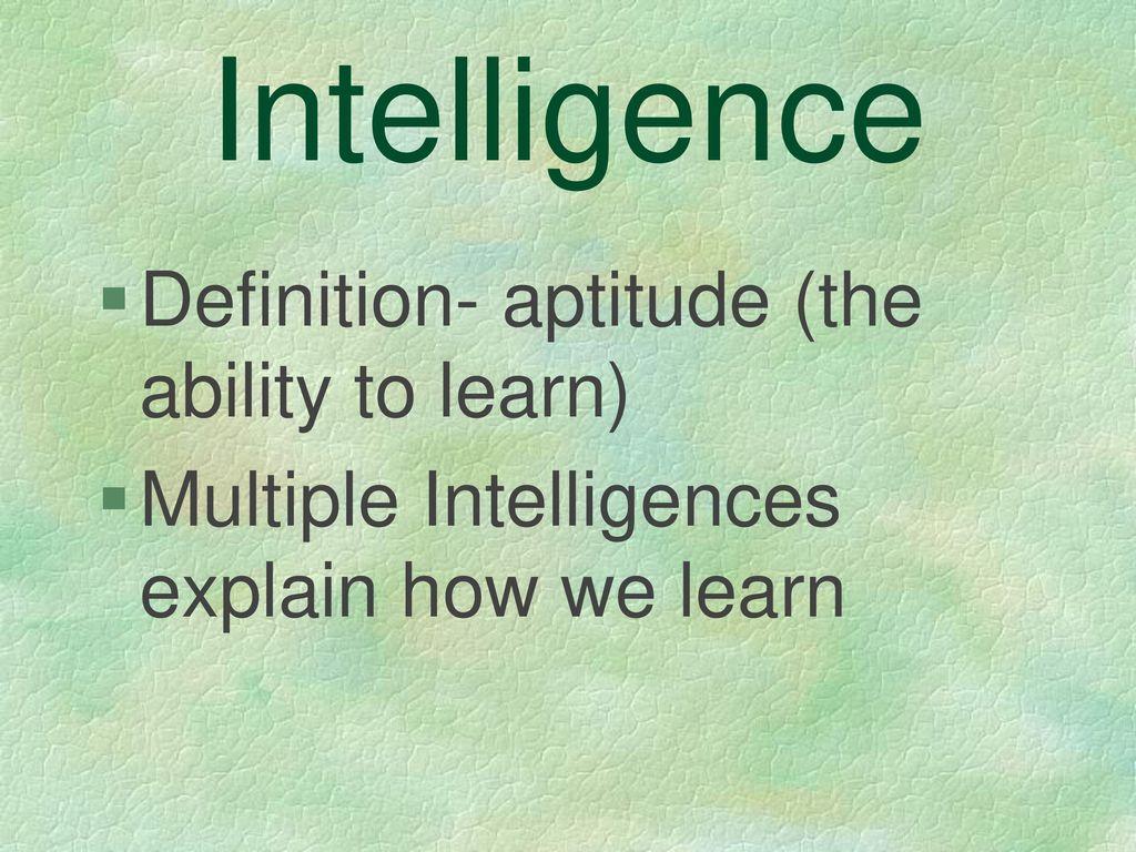 multiple intelligences - ppt download