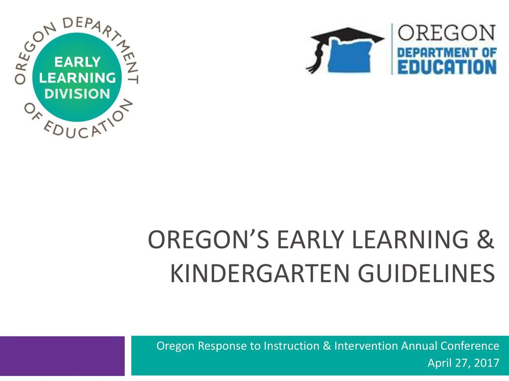 Oregon S Early Learning Kindergarten Guidelines Ppt Download Images, Photos, Reviews