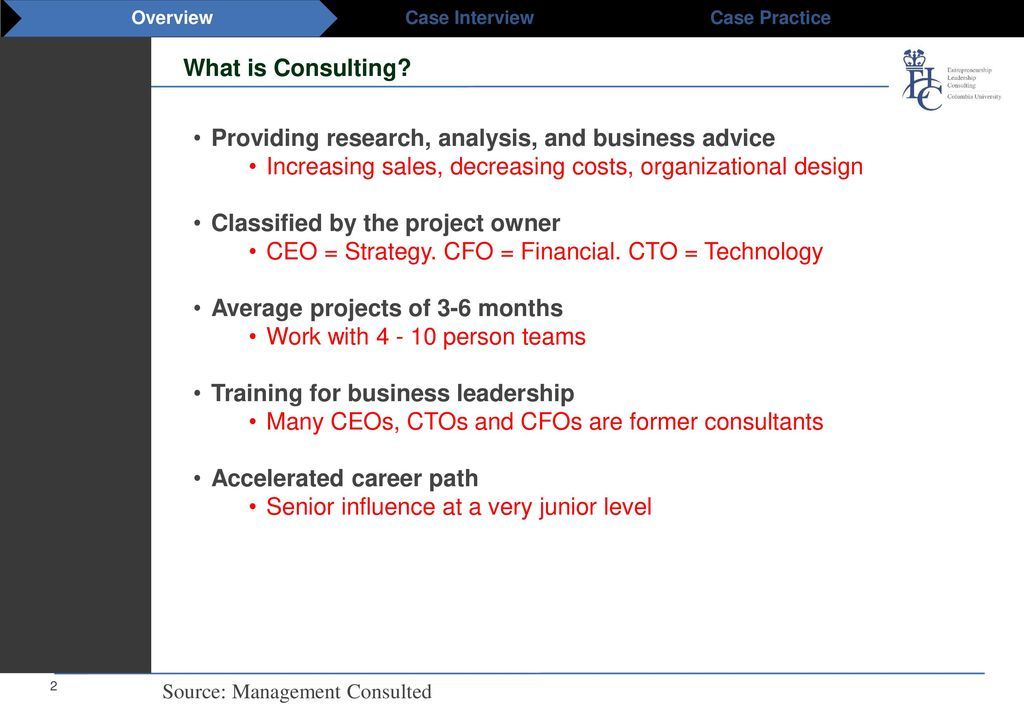 Consulting Overview  - ppt download