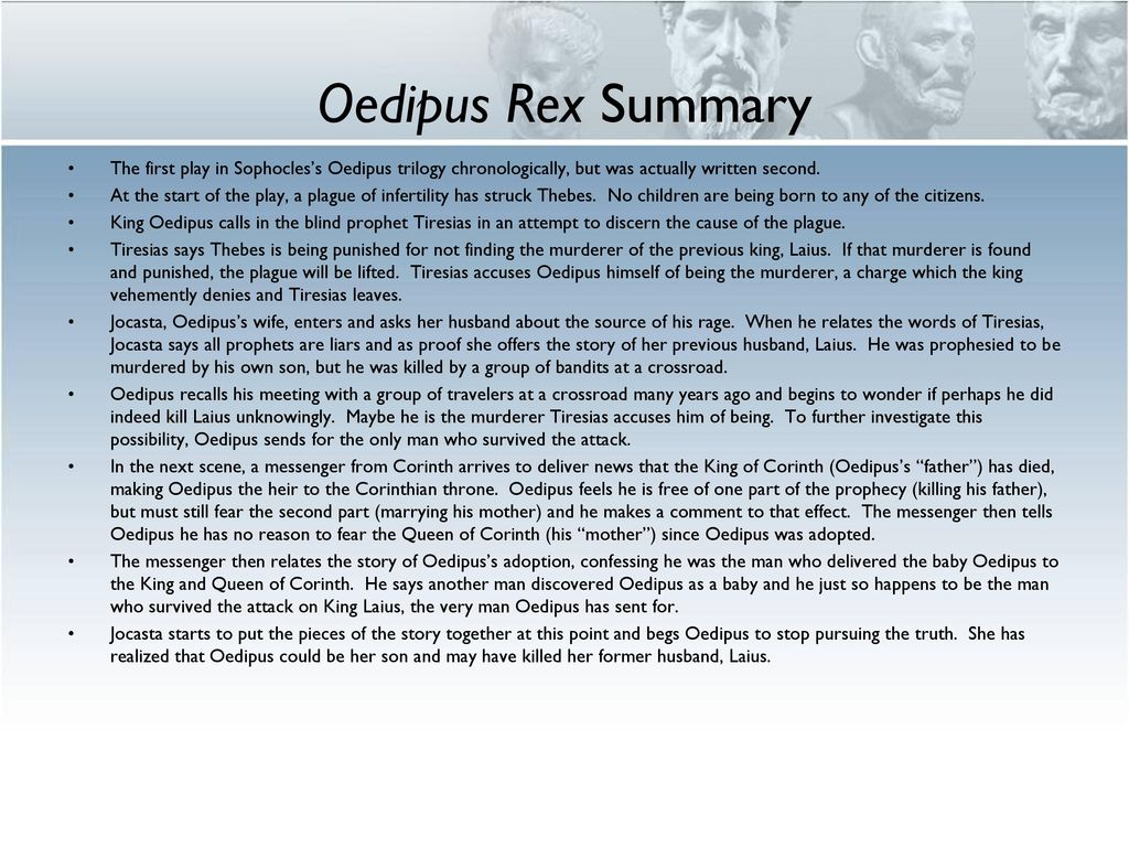 summary of oedipus the king play