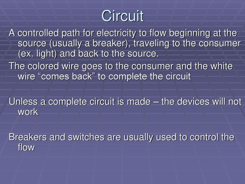 Electricity Basic Terms 1 Ppt Download Circuit Is Path That Allows To Flow Through 10 A Controlled For