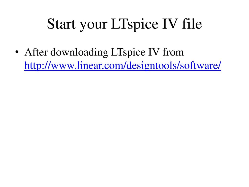 Introduction to LTspice IV - ppt download