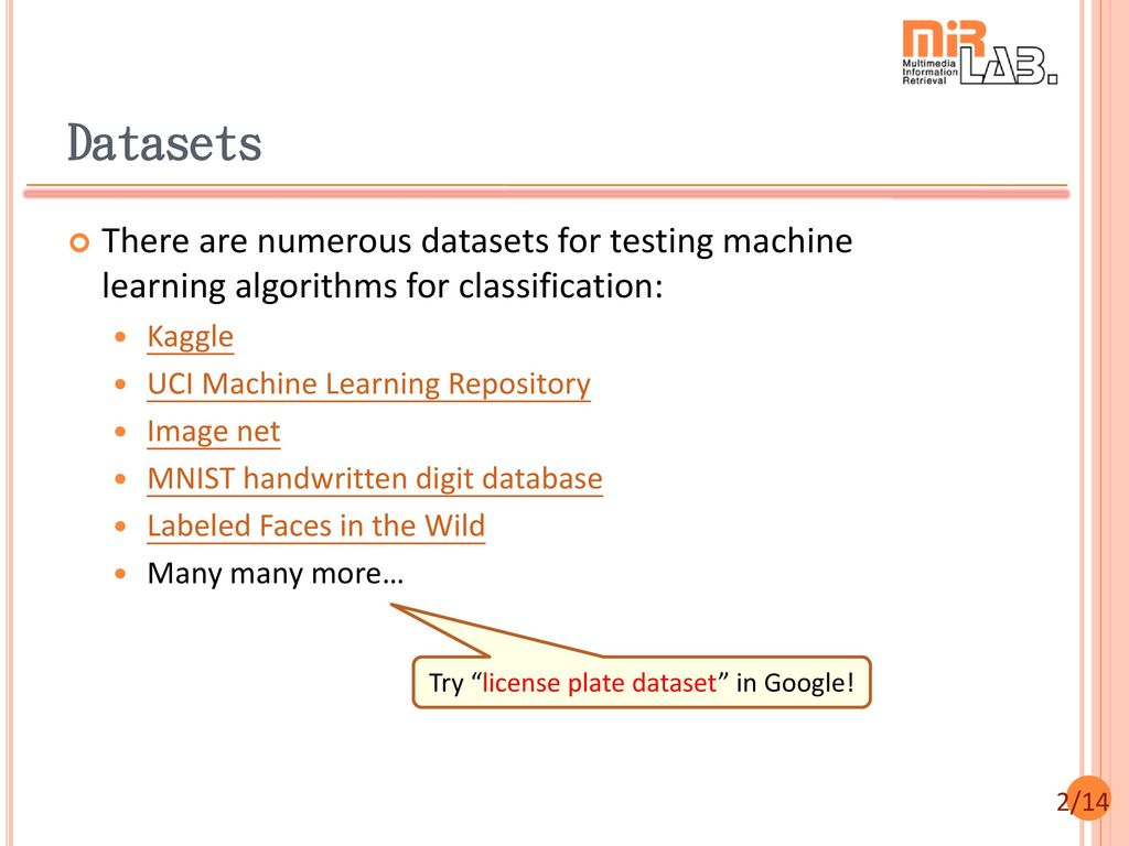 Commonly Used Datasets for ML - ppt download