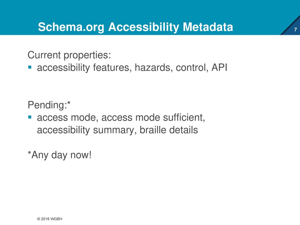 Accessibility Metadata - ppt download