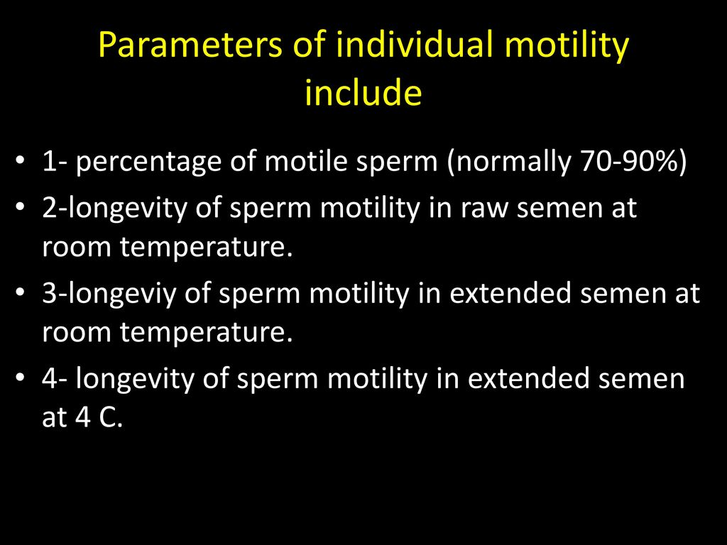 Have longevity of sperm almost same