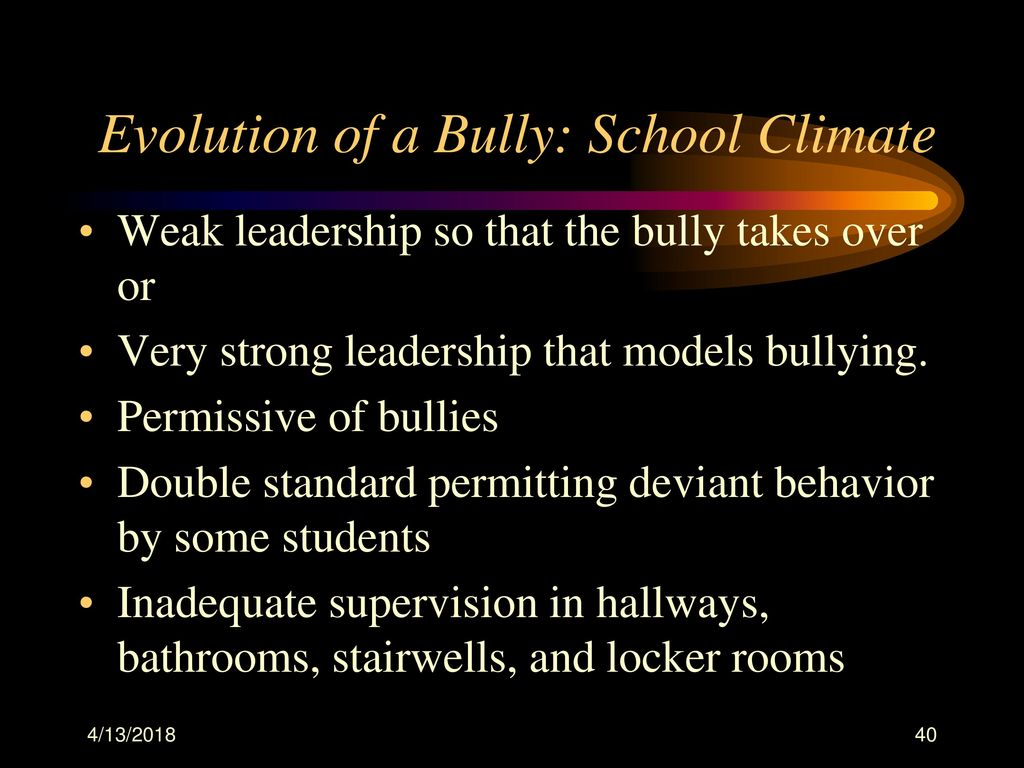 The evolution of bullying