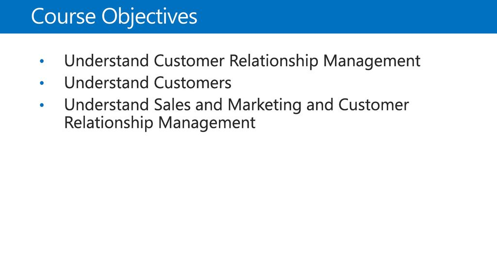 81002AE: Overview of the Sales and Marketing Module in Microsoft