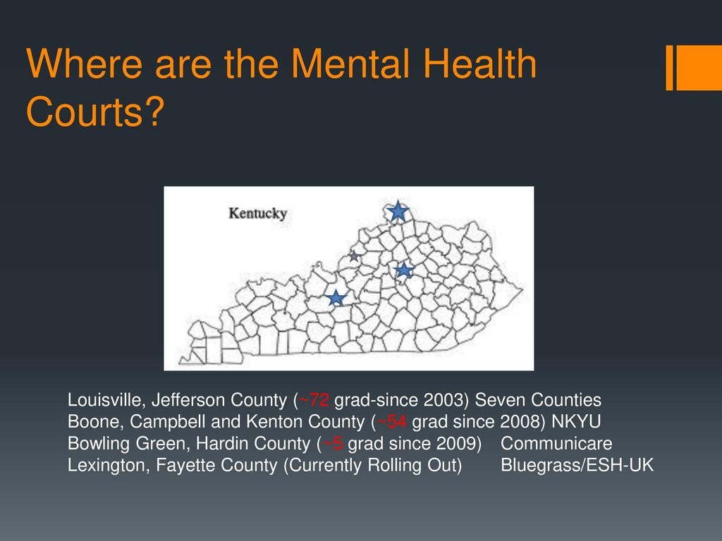 Mental Health Courts In Kentucky Ppt Download
