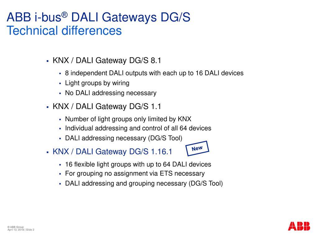 Abb Stotz Kontakt Gmbh Dali Gateway Dg S Ppt Download Knx Lighting Wiring Diagram 2