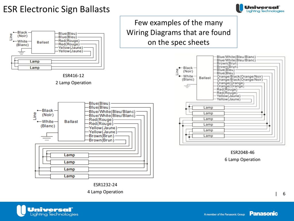 Esr Electronic Sign Ballasts Ppt Download T96 Ballast 120 Volt Wiring Diagram